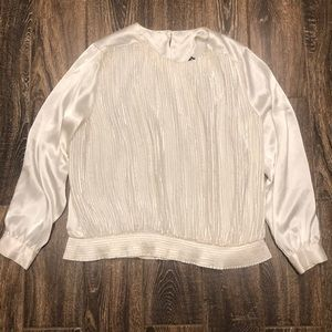 Notations Ivory Blouse Size 36/16W